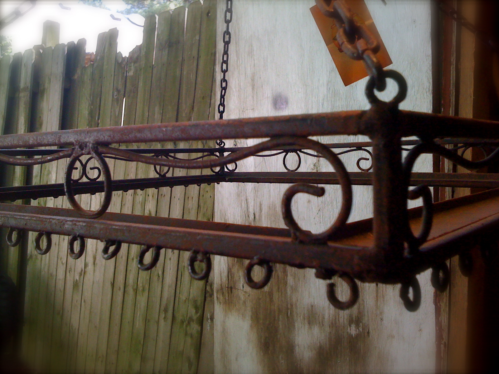 Antique Wrought Iron Pot Rack | Oh! Glory Vintage ...