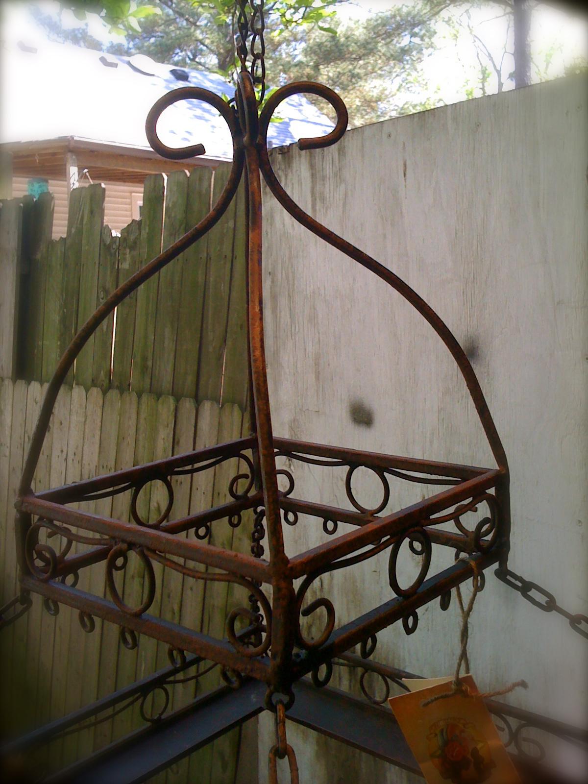 Antique Wrought Iron Pot Rack Oh Glory Vintage