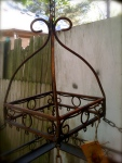 vintage pot rack
