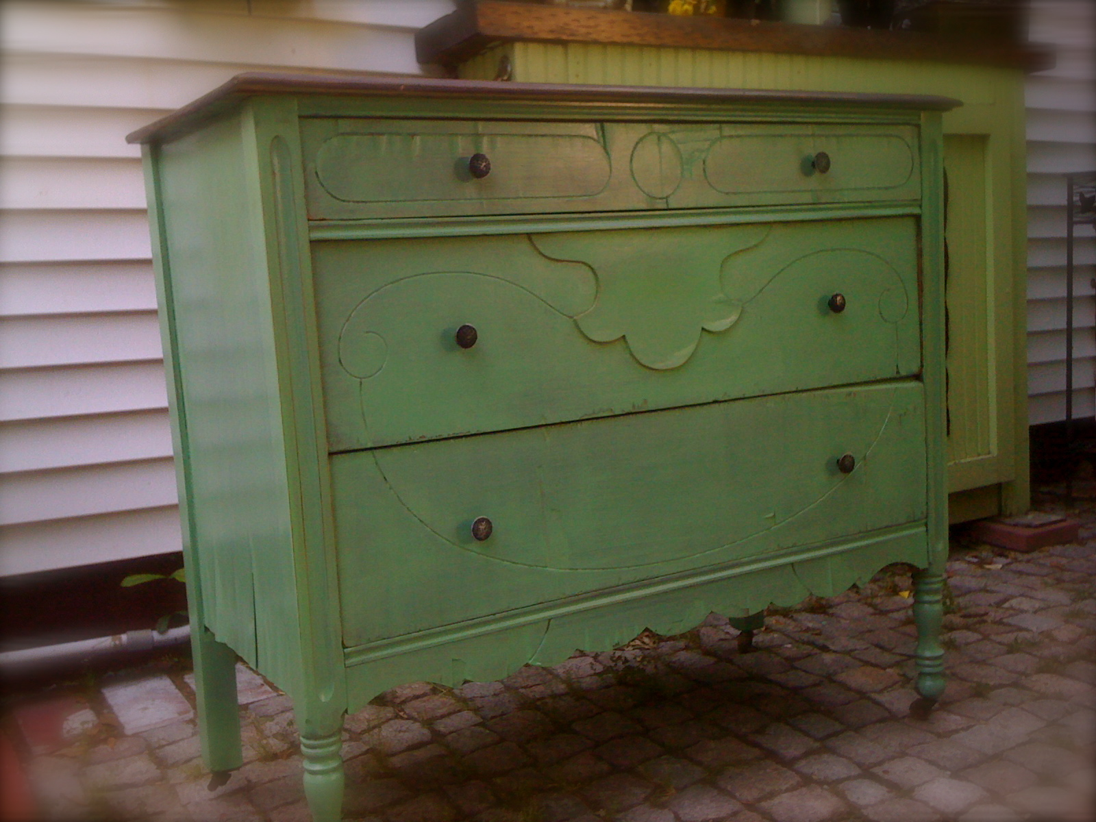 Shabby Chic Dresser 3 Drawer Primitive Distressed