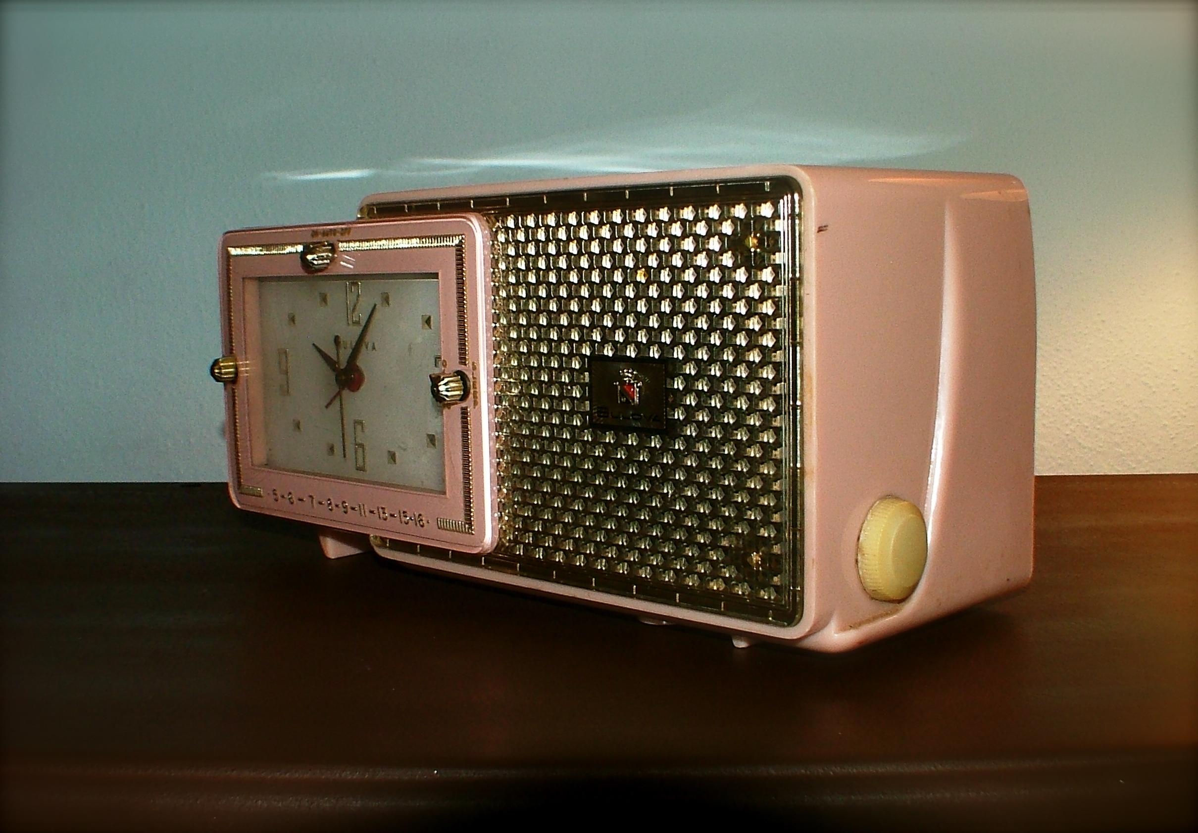 Vintage 50s Bulova Model 120 Clock Radio | Oh! Glory ...