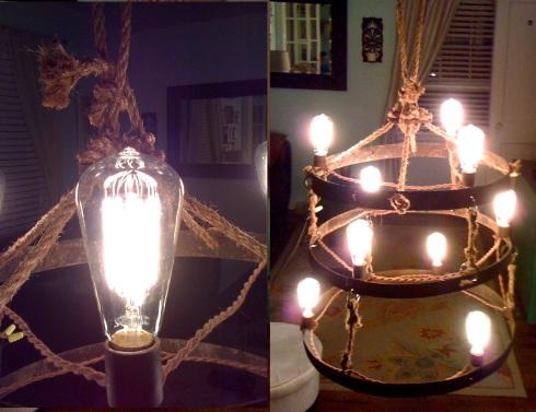 Repurposed Recycled Lighting