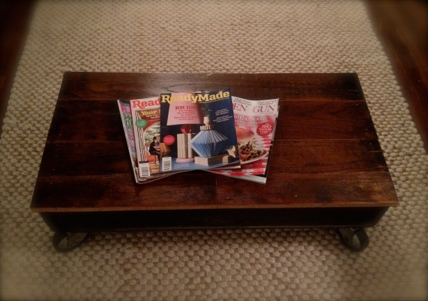 ebay oak coffee table