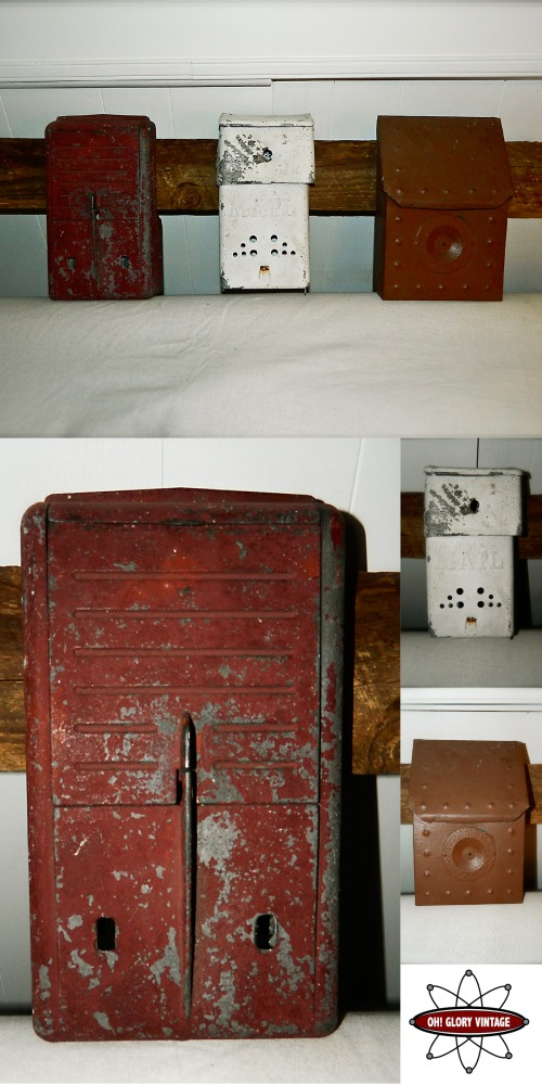 Upcycled Mail Box Storage Bins