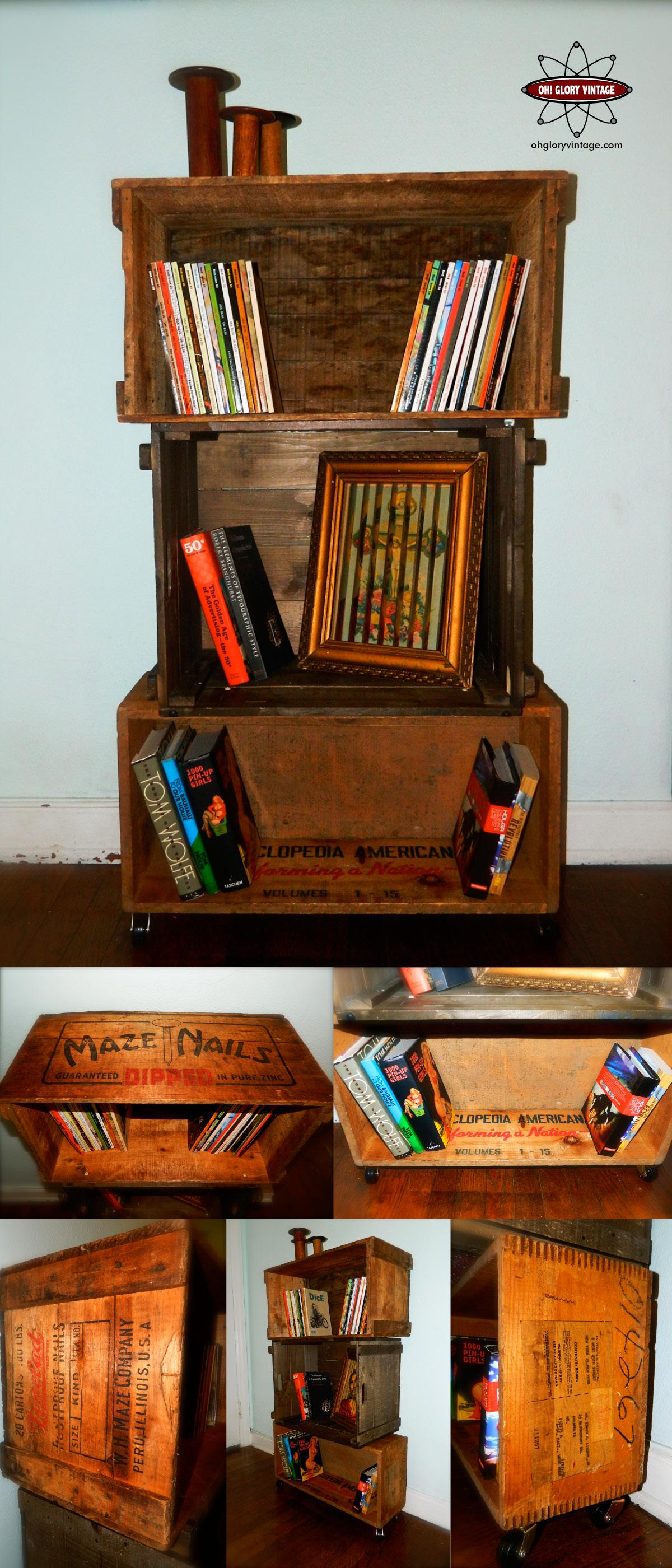 wood crate shelves oh glory vintage vintage clothing. Black Bedroom Furniture Sets. Home Design Ideas