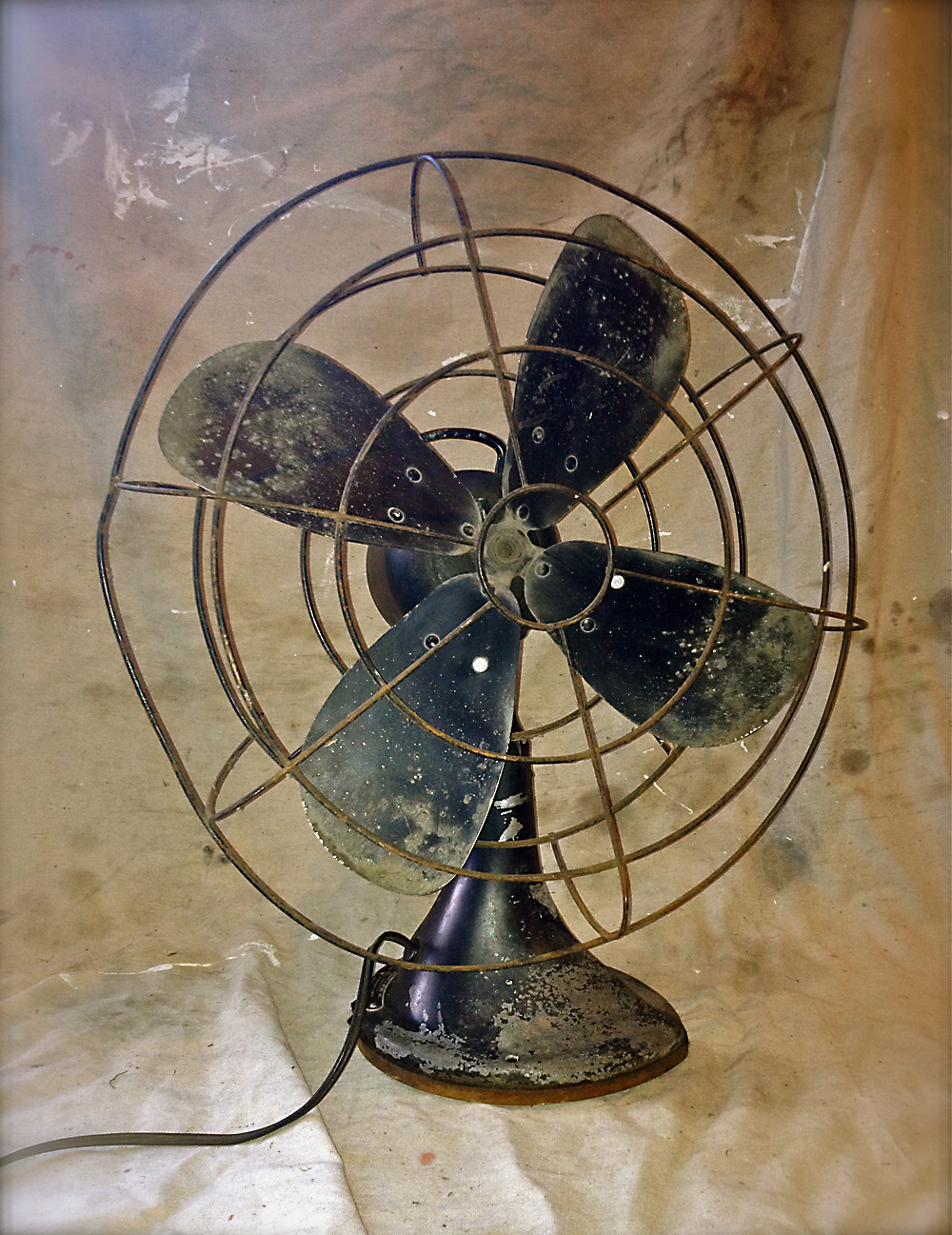 Black Fan 1 ... - Vintage Fan Oh! Glory Vintage - Vintage Clothing, Shabby Chic
